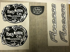 NEW GENUINE FORD - ESCORT FINESSE HALEWOOD FORD BADGE / DECAL / STICKER KIT NOS