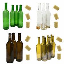 Weinflasche Flasche leere Glasflasche mit Korken Saft Wodka Tinkturflasch  0,7L