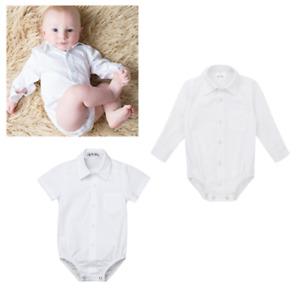 Newborn-Baby-Boy-Formal-Gentleman-Shirt-Romper-Jumpsuit-Birthday-Party-3-14M