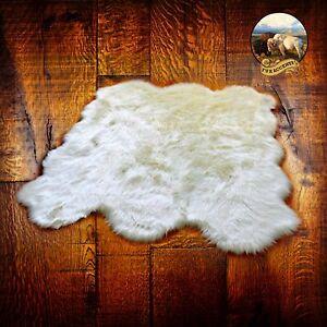 Plush Sheepskin Pelt Shag Throw Rug Premium Faux Fur