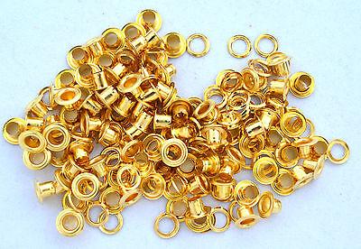 100  Ösen & Scheiben 4 mm gold