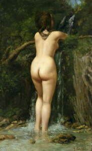 Gustave Courbet The Spring Giclee Art Paper Print Paintings Poster Reproduction