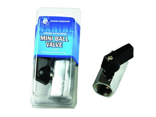 "10mm Mini Ball Valve Chrome Plated Brass W// T Grip Handle 3//8/"" BSP 403159"