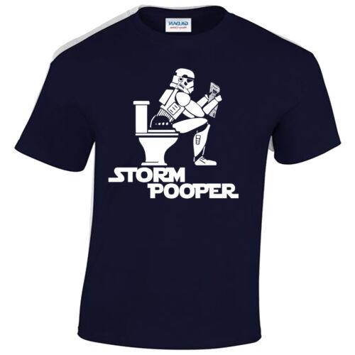 STORM POOPER MENS T SHIRT FUNNY STAR DESIGN TROOPER WARS BANKSY HIPSTER