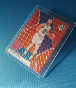 2019-20-mosaic-basketball-Steph-Curry-Red-Wave-Prizm