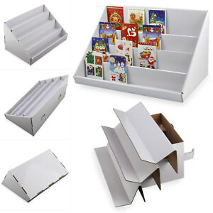 New 2 x 4 tier white collapsible cardboard greeting card display image is loading new 2 x 4 tier white collapsible cardboard m4hsunfo