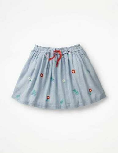 New Mini Boden Pretty Embroidered Skirt 2-12 years strawberries flowers stripe