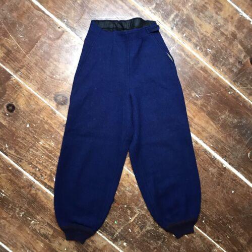 Vintage Blue Wool Side-Zip Ski Pants 30s 40s Women