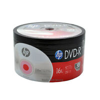100-Pack 16X HP Logo Blank DVD-R DVDR Recordable Disc Media 4.7GB Shrink Wrapped