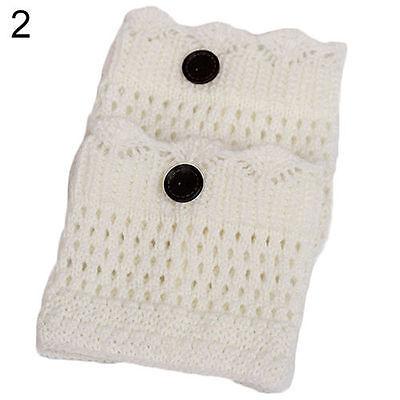 Fashion Womens Crochet Knit Lace Trim Leg Warmers Cuffs Toppers Boot Socks HN