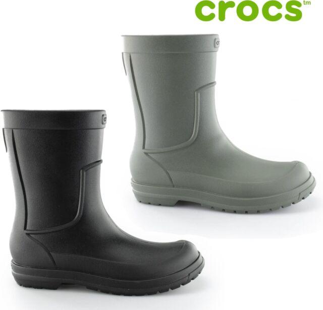online for sale pick up on feet shots of Crocs ALLCAST RAIN BOOT Mens Croslite Waterproof Wellingtons Rain Welly  Boots