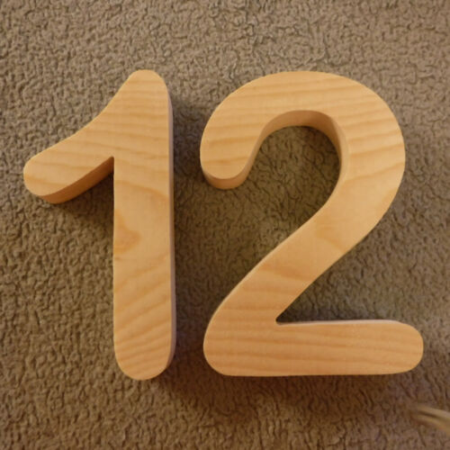 """Wooden House numbers// Wood Arial rounded 5/"""" to 7/"""" tall//Street Address"""