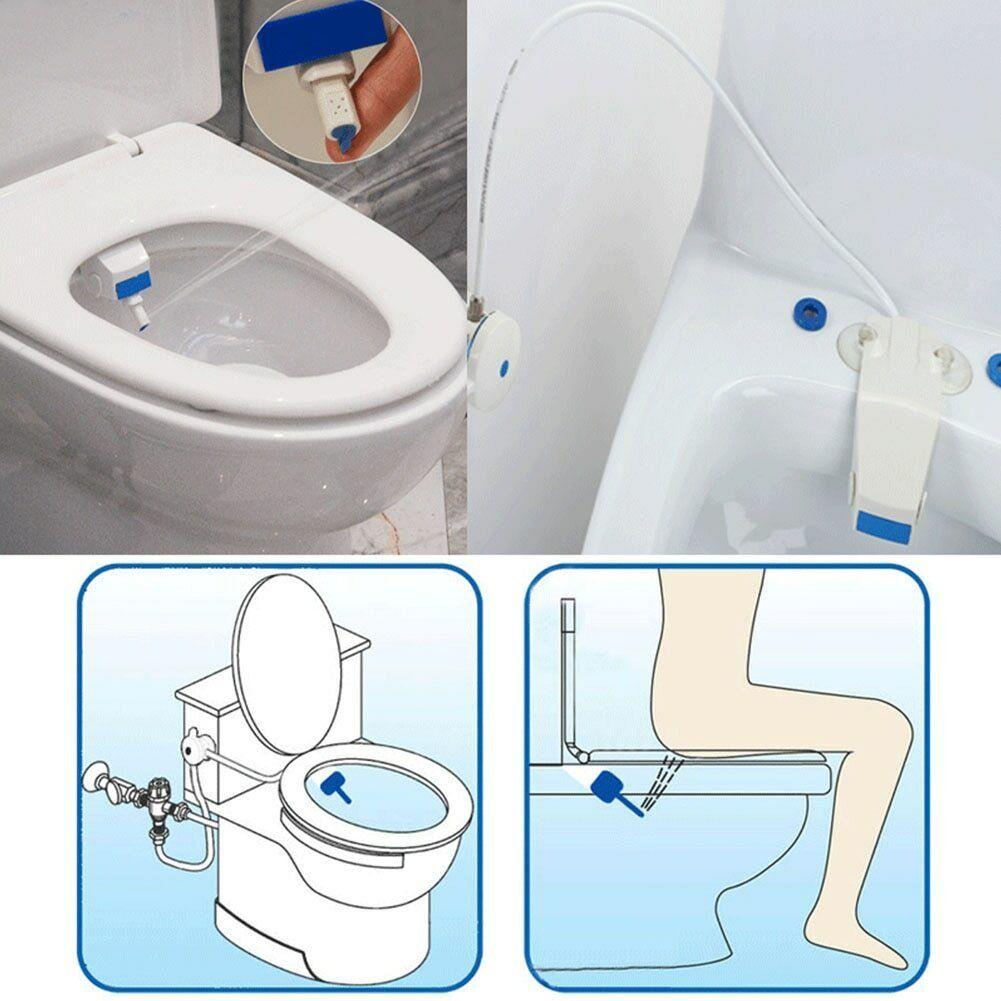 Clean Clear Rear End Bidet Butt Wash Washer Adjustable Fresh Water Spray New USA