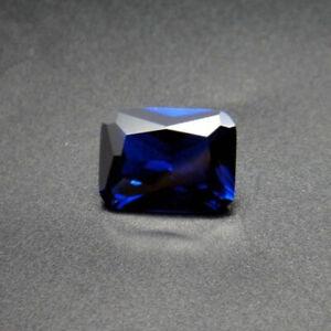 RICH ROYAL BLUE SAPPHIRE UNHEATED 7.83ct VVS1 10x12MM EMERALD CUT LOOSE GEMSTONE