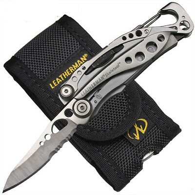 """Leatherman Multitool """"modello Skeletool"""" In Alluminio Guscio Grip Con Tasche Clip-"""