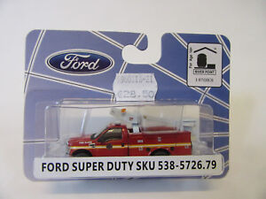 River-Point-Station-Ee-uu-1-87-Ford-F-450-Steiger-Firetruck-Modelo-a-Escala