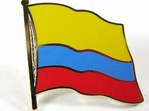 Kolumbien-Flaggen-Pin-Anstecker-1-5-cm-Neu-mit-Druckverschluss