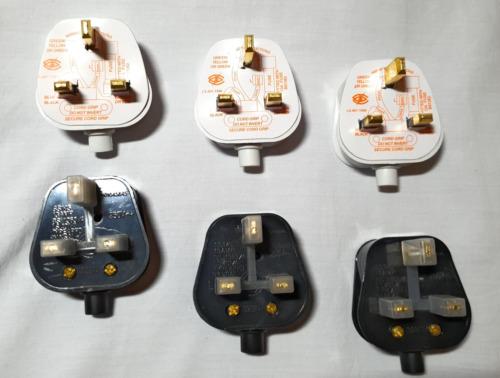 13AMP 3 Pin Reino Unido Adaptador de Enchufe Top-Blanco Negro Y Disponible
