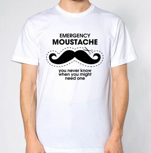 Emergency Moustache T-Shirt You Never Know When You Might Need One