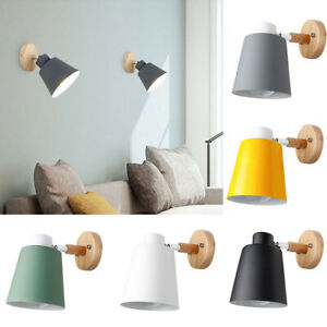 ALS-FA-Wooden-Wall-Mounted-Bedside-Sconce-LED-Light-Steering-Head-Stair-Lamp-R
