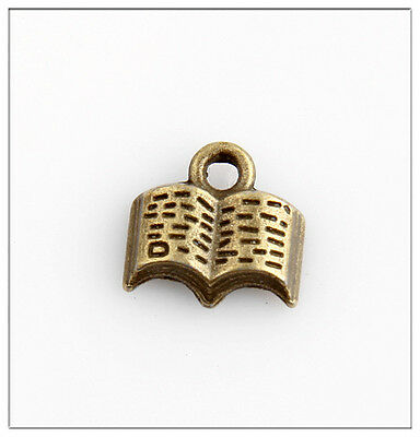 20 Book Bronze Plated Charms Pendants Jewelry Making Findings EIF0697