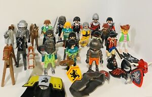 Vintage Mixed lot Playmobil Knights Pirates Horses Weapons Accessories