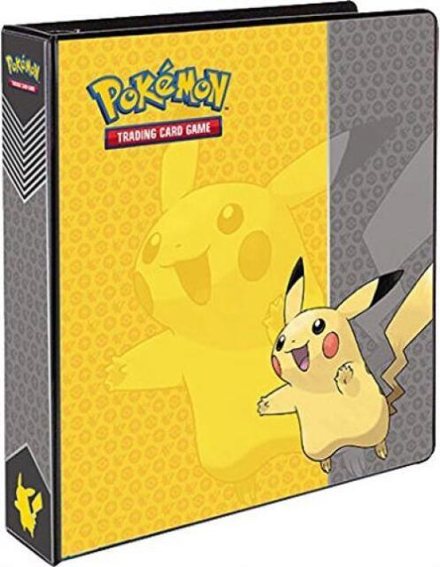 "Ultra Pro Pokemon Pikachu 3-Ring paper Hole Storage sheet Binder Card Album 2"""