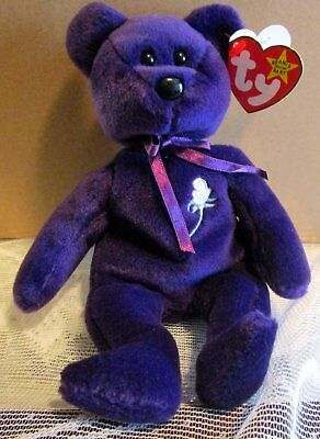 Ty Beanie Babies Princess Diana China Tush Tag Pe Swing Tag Space