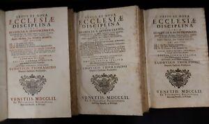 Thomassino-Vetus-et-Nova-Ecclesiae-Disciplina-circa-Beneficia-1752-3-tomi