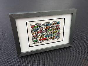 J-RIZZI-Original-Farblithographie-034-GOING-TO-WORK-034-3D-Vorlage-gerahmt-2002