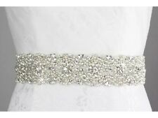 Gorgeous Ivory Pearls & Rhinestone Wedding Sash & Bridal Belt Custom 2015