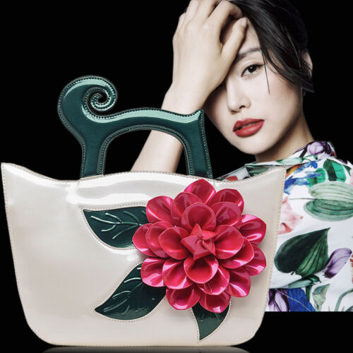 New Retro luxury handmade  large rose flower purse handbag  shoulder bag 04