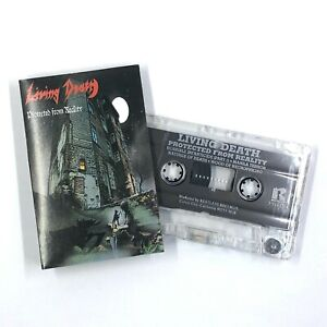 LIVING DEATH Protected From Reality Cassette Tape 1987 Heavy Metal Rare