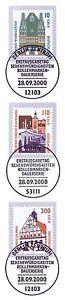 Bien Rfa 2000: Wernigerode + Ratisbonne + Grimma! Swk Nº 2139+2140+2141! 1a! 1608-! 1a! 1608fr-fr Afficher Le Titre D'origine
