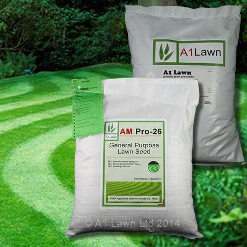 GENERAL PURPOSE GRASS SEED 5kg /& PRE-SEEDER 10kg MULTI-SAVE PACK