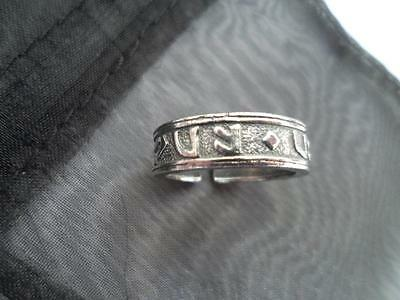 Viking Pewter Rune ring   Viking Celtic Manx .Norse