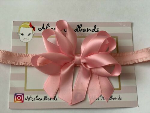 Lot Baby Girls Satin Bow 4 Inches 3 Layers Headband Hairband Hair Accessories