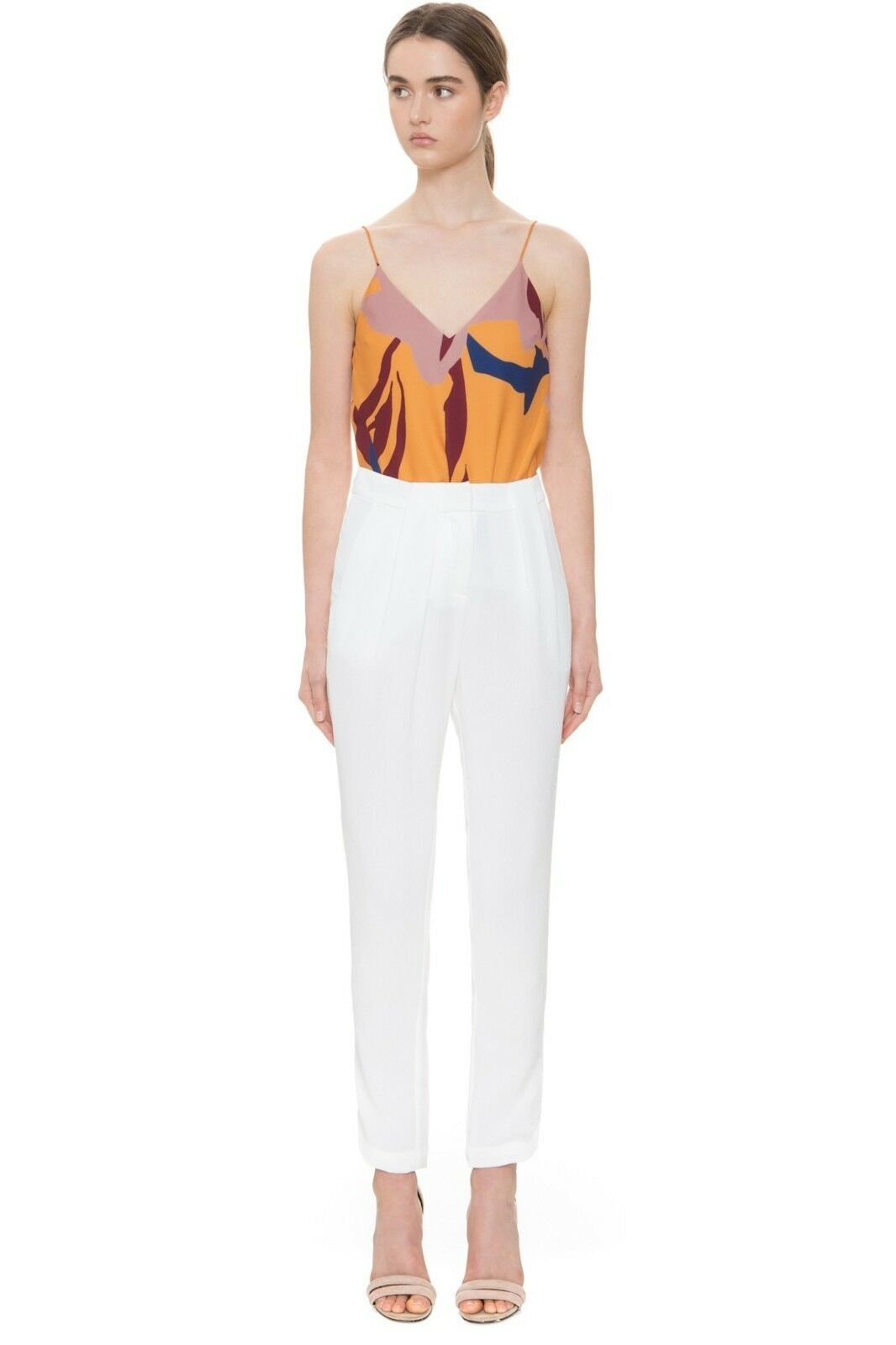 C MEO COLLECTIVE NEXT TIME PANTS Ivory Sz XXS  150 NWT