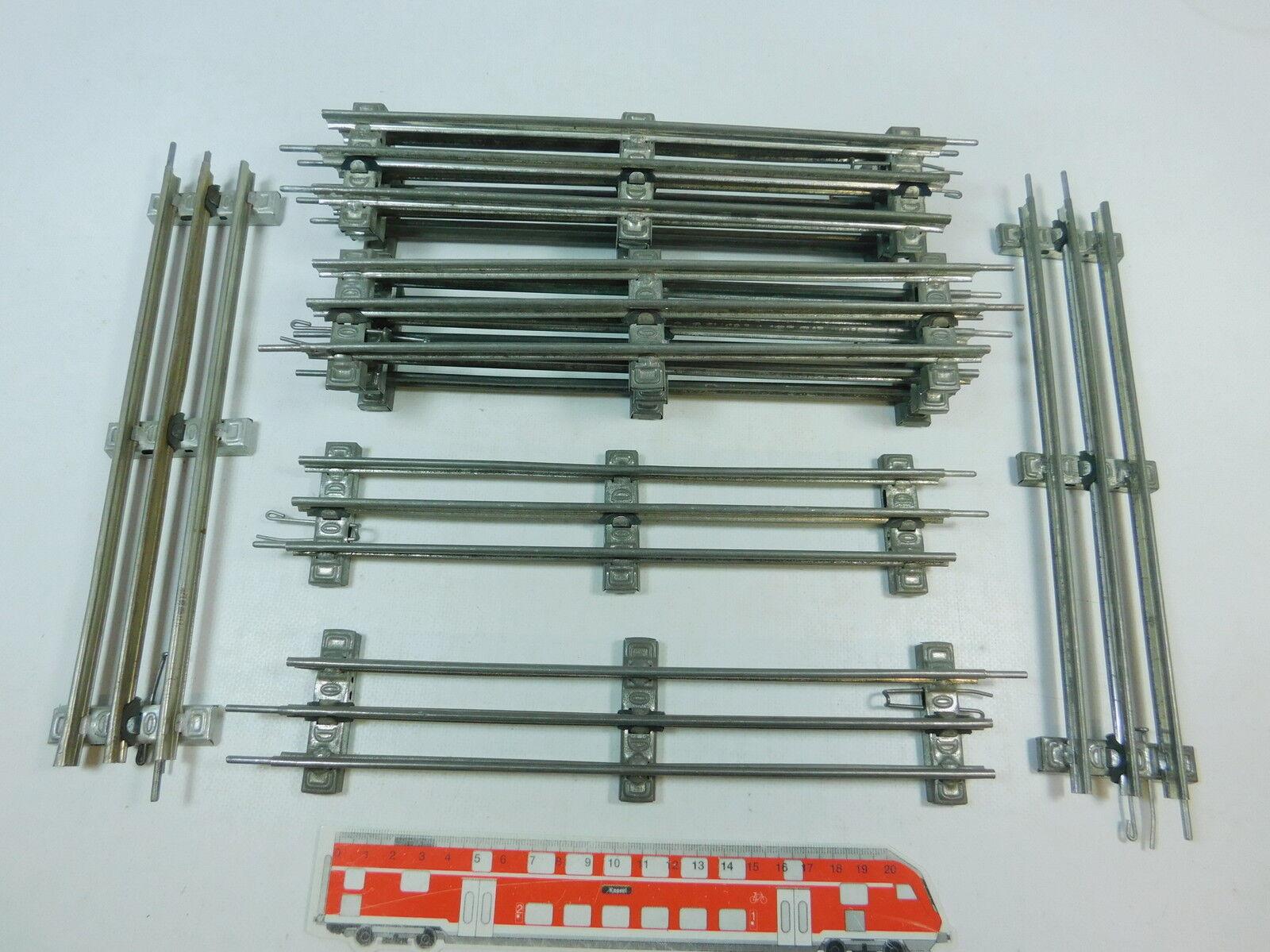AV44-2 10x  /Marklin Traccia 0 Pezzo Pista  26 Cm  per Elettrica