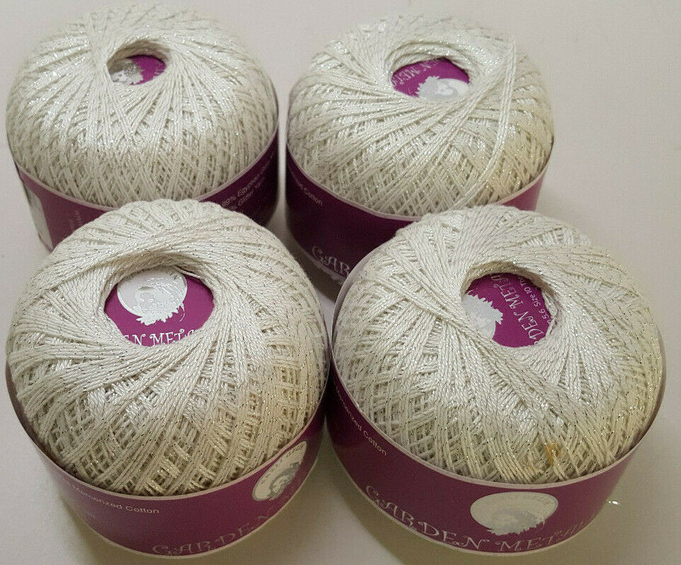 Garden Metallic Mercerized Cotton yarn Nazli Gelin NEW 10 colors Crochet//Knit
