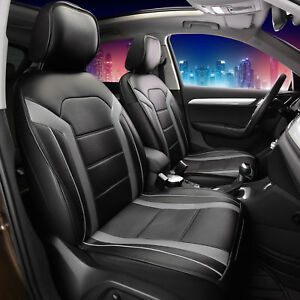 Deluxe Leatherette Air Mesh with Non-Slip Backing Car Cushion Pad Front Gray