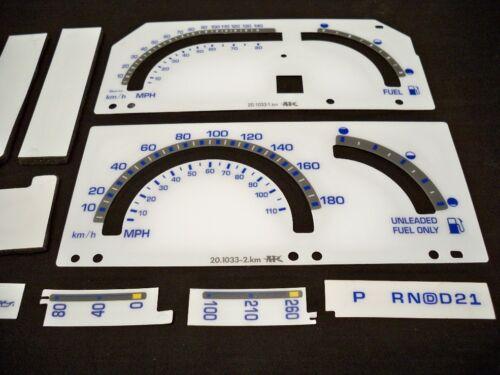 89 90 91 92 93 Metric KPH S10 Blazer Cluster White Face Glow Through Gauges Kit