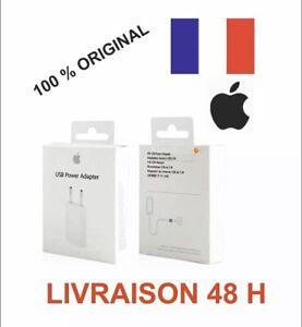 Adaptateur-Chargeur-Prise-Secteur-OEM-USB-5W-100-Original-APPLE-Alimentation