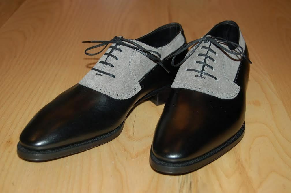 Handmade men two tone formal scarpe, Men classic designer leather dress scarpe