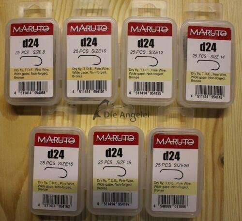 Maruto D24 Fliegenhaken für Trockefliegen//Dry Fly  in 7 Größen Wide Gape