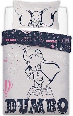 Bettwäsche Offiziell Disney Dumbo Elefant Grau Marine Einzelbett Bettwäsche Kissenbezug Set