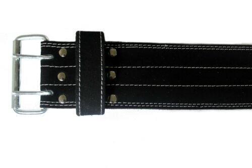 LIONS FIT GENUINE LEATHER POWER BELT BACK SUPPORT  WEIGHT LIFTING BODY BUILDING