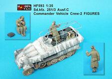 Hobby Fan 1:35 Sd. Kfz. 251/3 Ausf.C Commander Vehicle Crew 2 Resin Figs HF-593