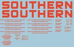 Southern-artikuliert-Coal-Hopper-100-Decal-Set-NEU