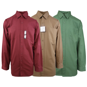 Carhartt-Men-039-s-Red-Brown-Green-L-S-Woven-Shirt-XL-4XL-Retail-45